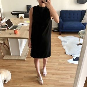 Topshop Black Boat Neck Dress